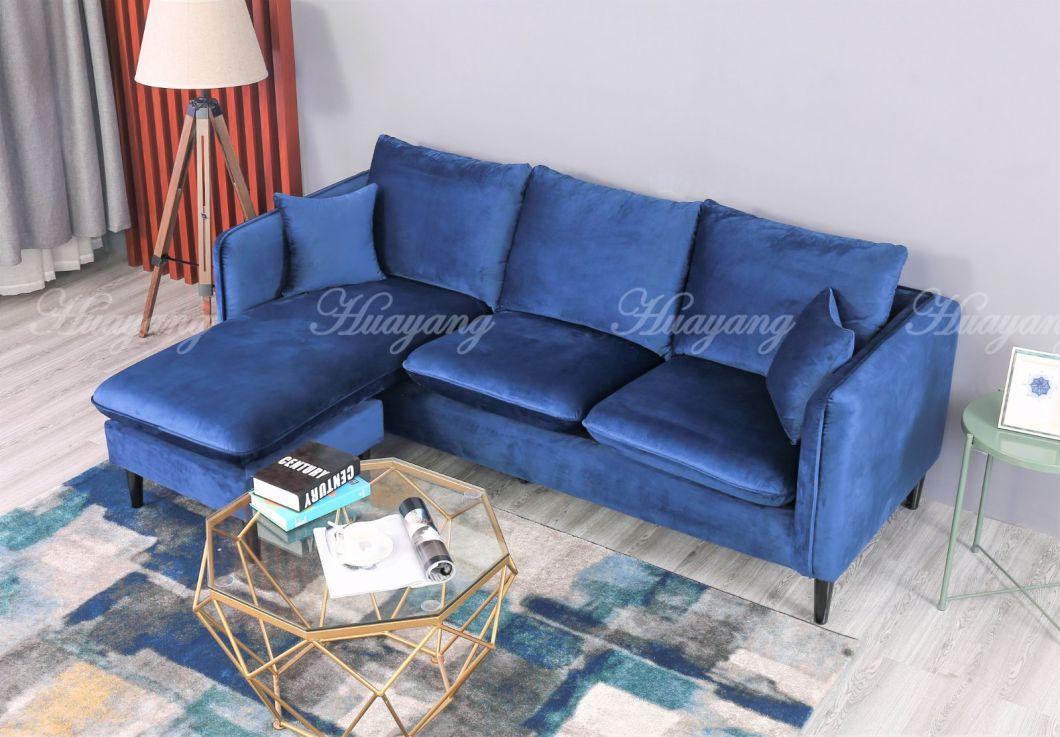 Living Room Fabric Corner Sofa Set