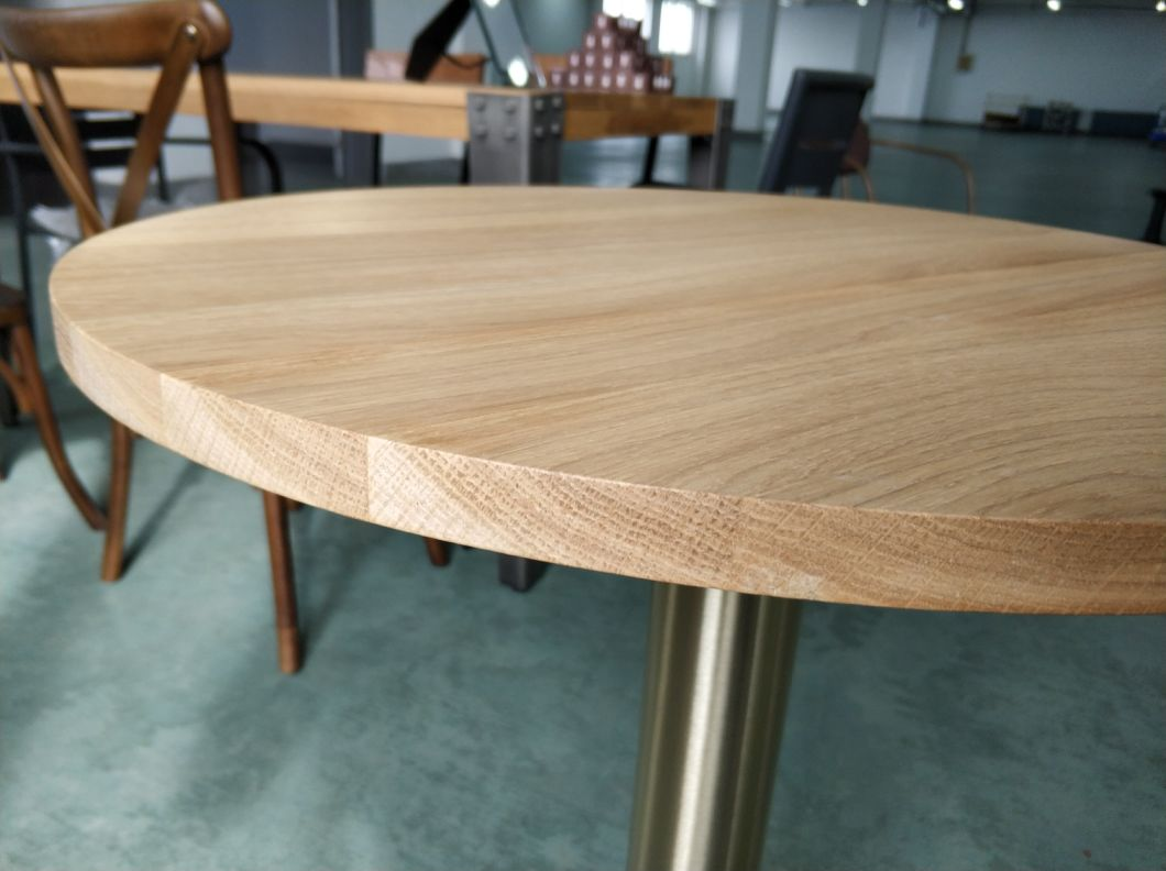 Solid Oak Round Dining Table Top