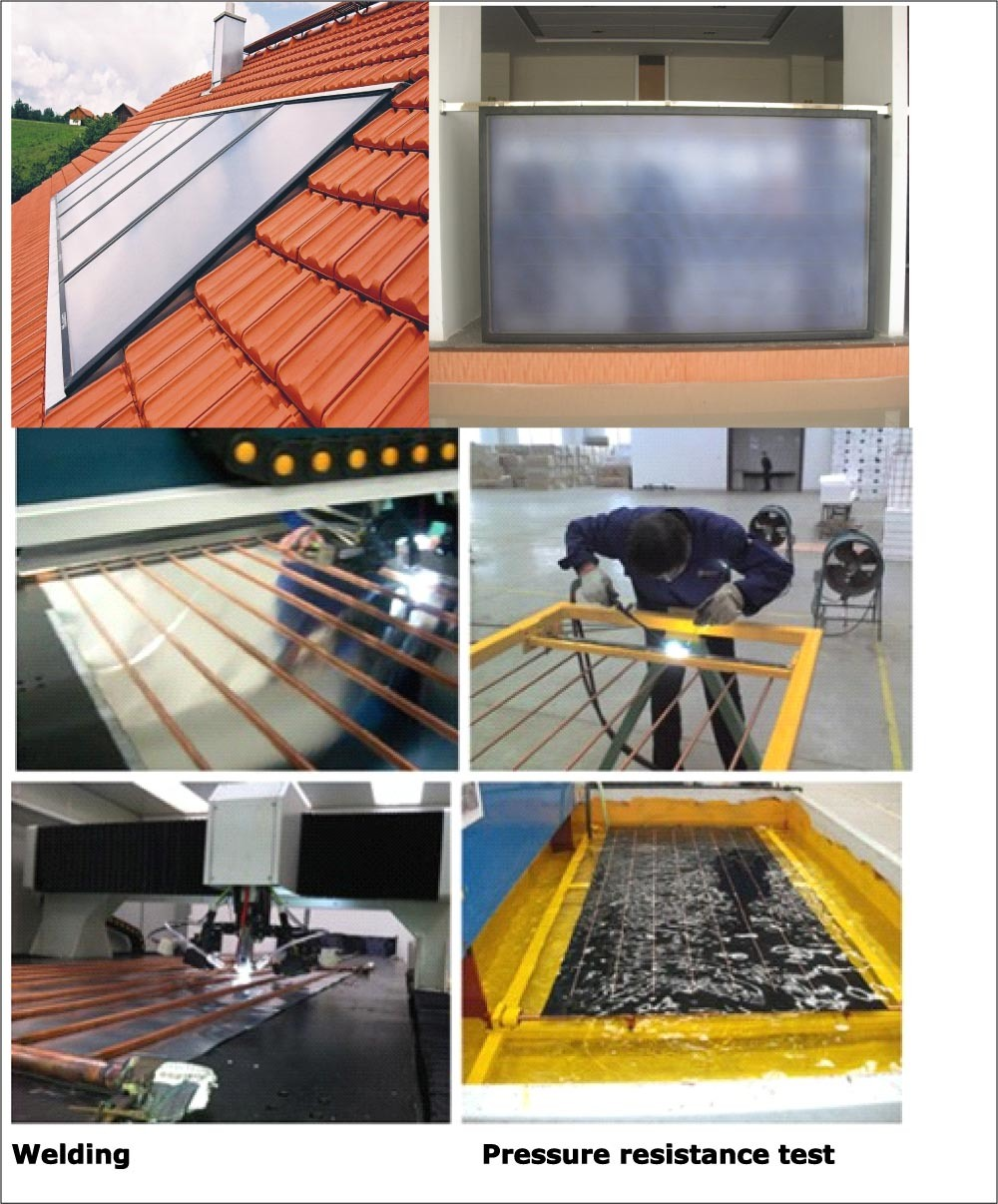 China Flat Plate High Pressure Blue Absorber Solar Water
