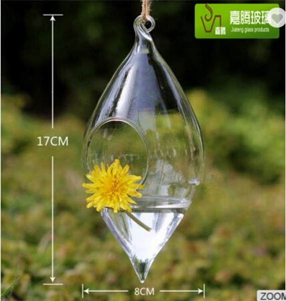 China Crystal Glass Hanging Flower Vases Glass Terrarium Hydroponics