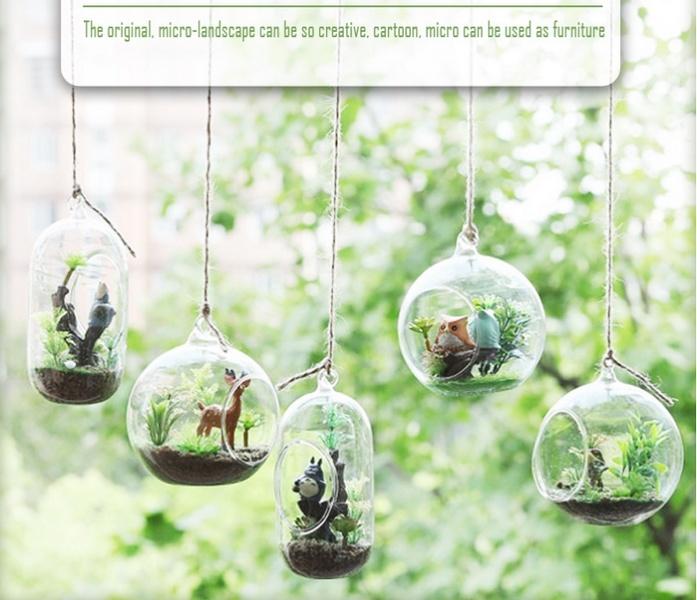 China Crystal Glass Hanging Flower Vases Glass Terrarium Hydroponics