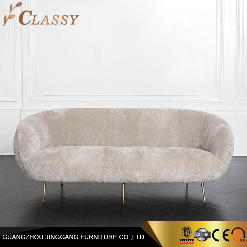 China Modern Luxury Sofa With Golden