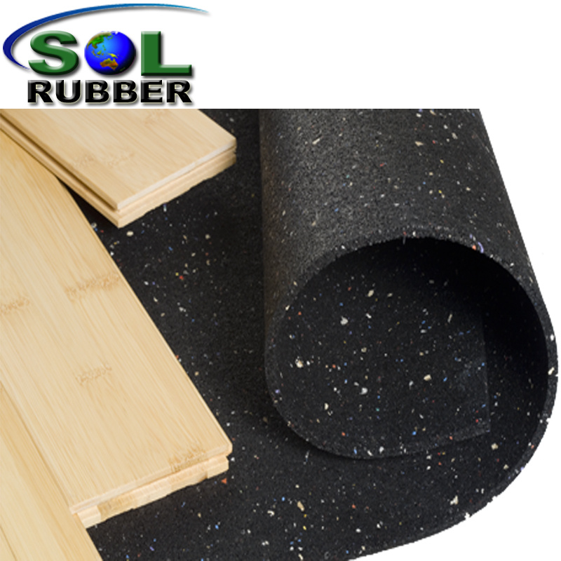 China Sound Proof Acoustic Underlay Anti Impact Rubber
