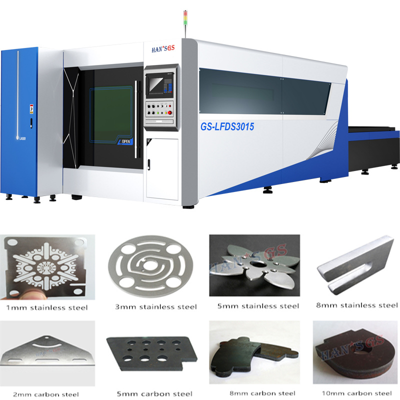 500W Wuhan Stainless Steel Plate Fiber Laser Cutting Machine