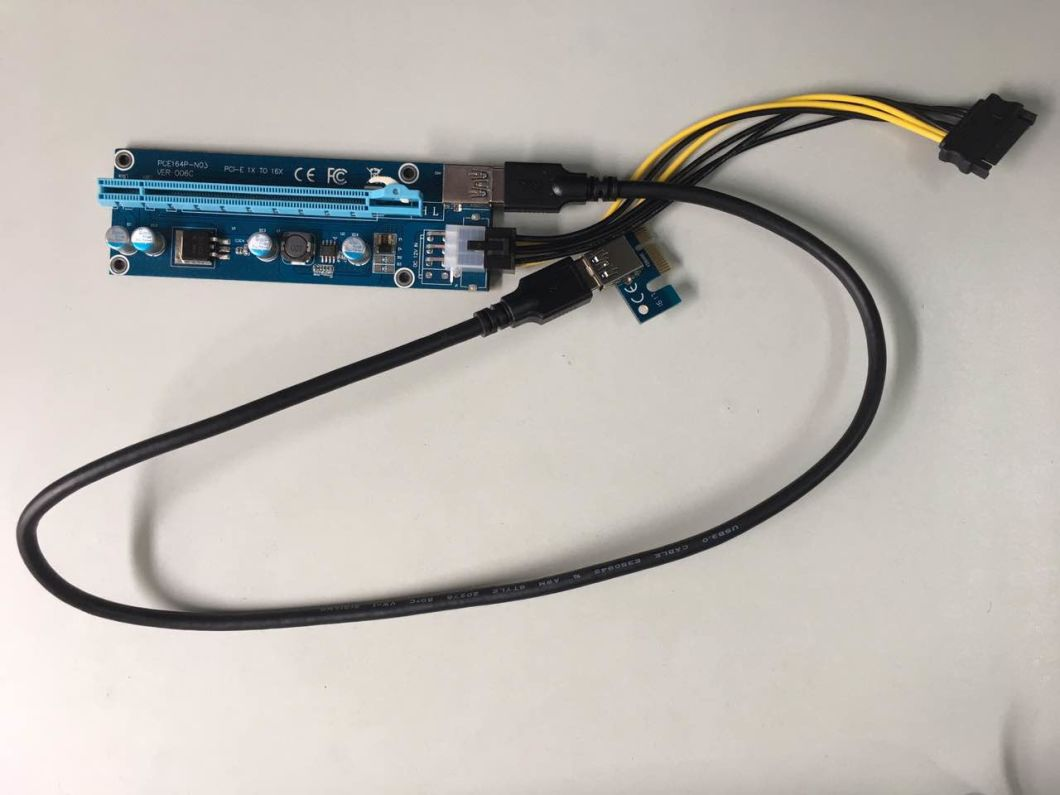 China Btc Riser Card For Bitcoin Miner Motherboard Pcie 1x 16x Express To Adaptor Pci E 16 Converting