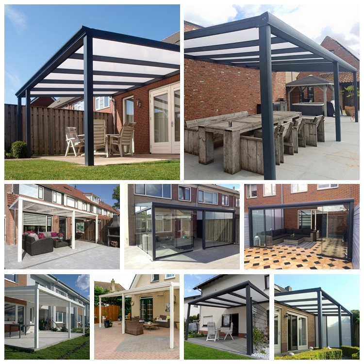 Pergola Designs Glass Roof: China European Style Wall Mounted Glass Roof Pergola With