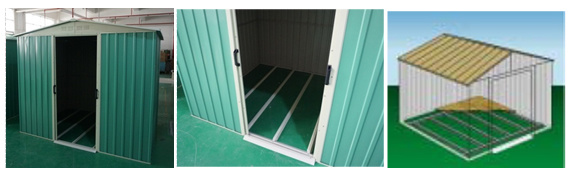 Made in China Easily Assembled Waterproof me<em></em>tal Garden Shed (RDS2618-G2)