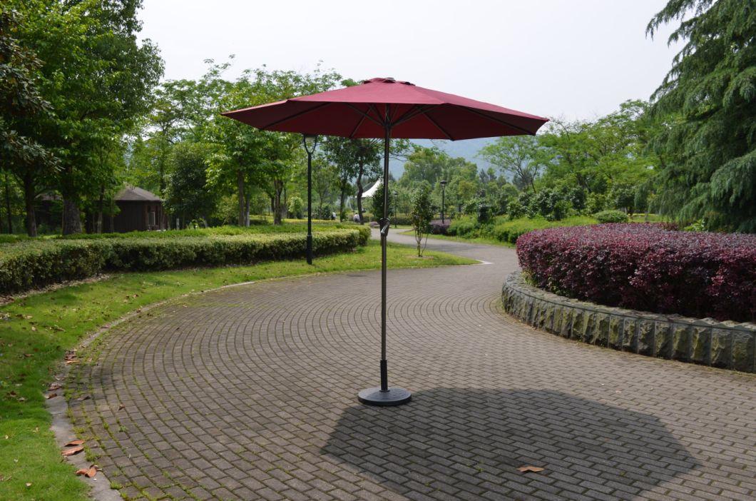 10FT Outdoor Garden Patio Parasol me tal f rame Crank Parasol