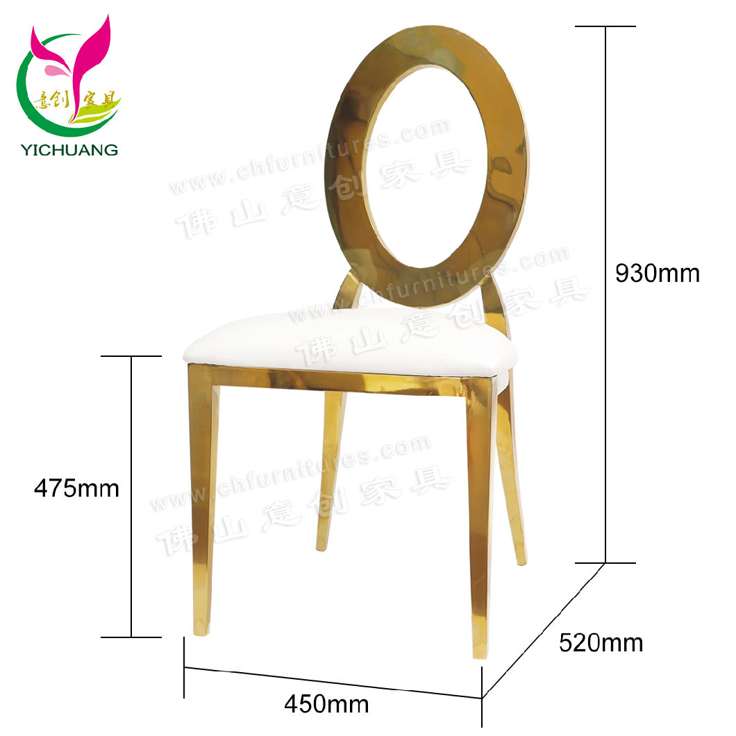 China Ycx Ss28 Modern Gold Metal Dining