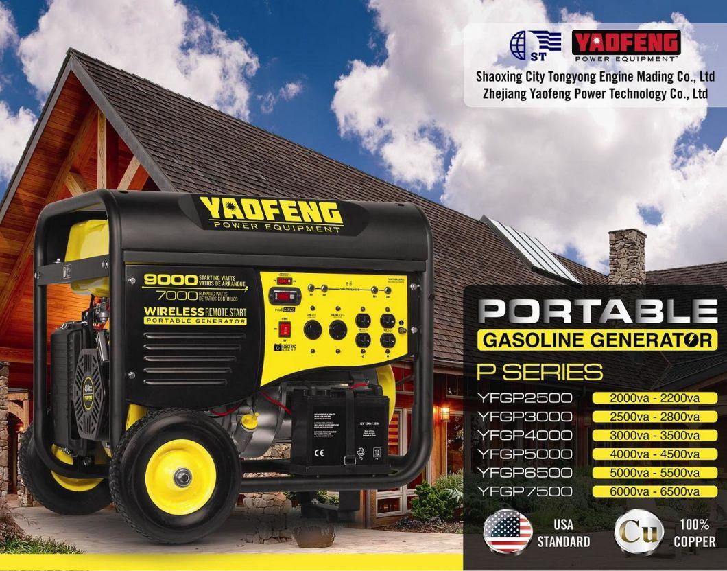 2500 Watts Portable Power Gasoline Generator with EPA, Carb, CE, So<em></em>ncap Certificate (YFGP3000E2)