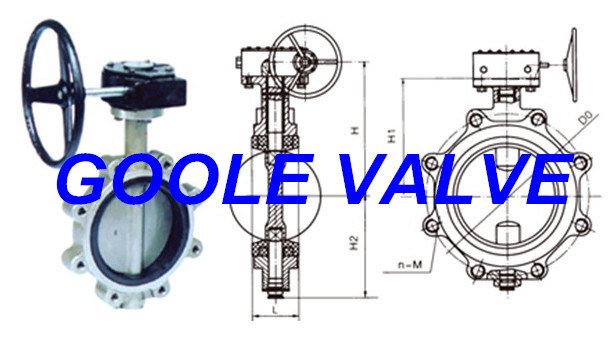 Manual Soft Seal Lug Type Butterfly Valve (GALD371X)