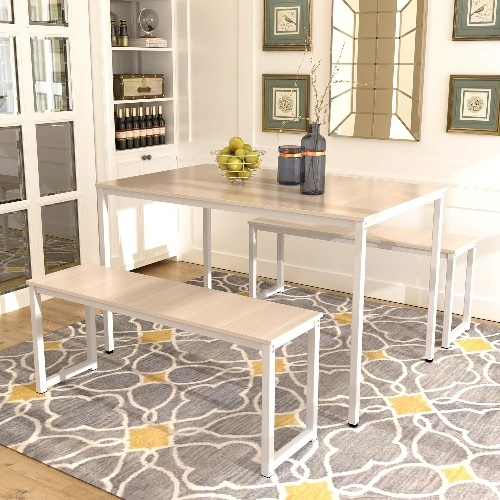 Dining Table Furniture Set With Bench