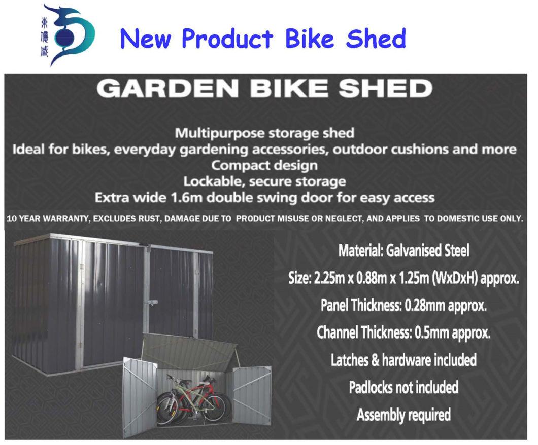 Easily Assembled Waterproof me<em></em>tal Garden Shed (RDS2618-GG1)