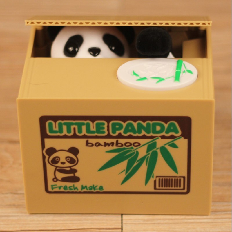Creative Panda Style Kids Toy Automatic Stole Coin Piggy Bank