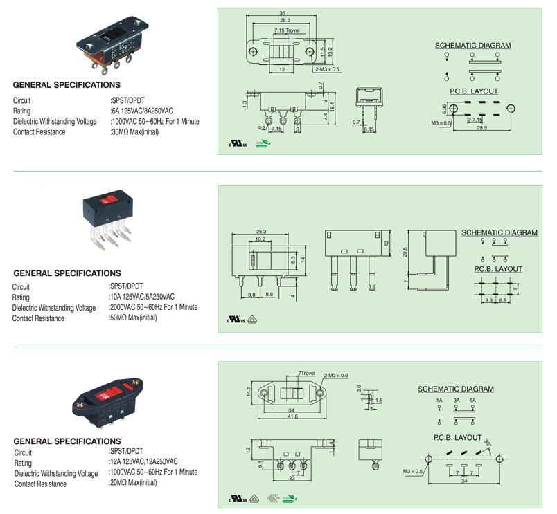 3 pin switch diagram ss12d00g3 toggle switch 2 position spdt 1p2t 3 pin pcb panel mini  position spdt 1p2t 3 pin pcb panel