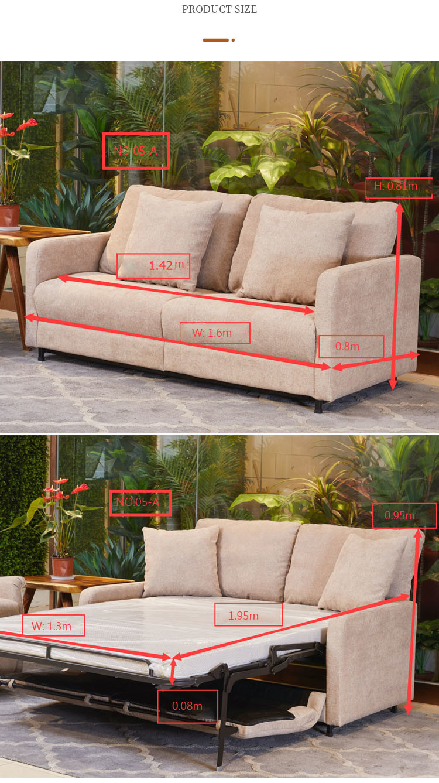 China Manufacturer Mulifunctional Furniture Sofa Bed