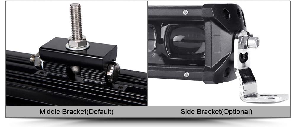 CE EMC 9D Single Row Spotlight Projector Lens Car Auto LED Light Bar Lightbar for Offroad Truck