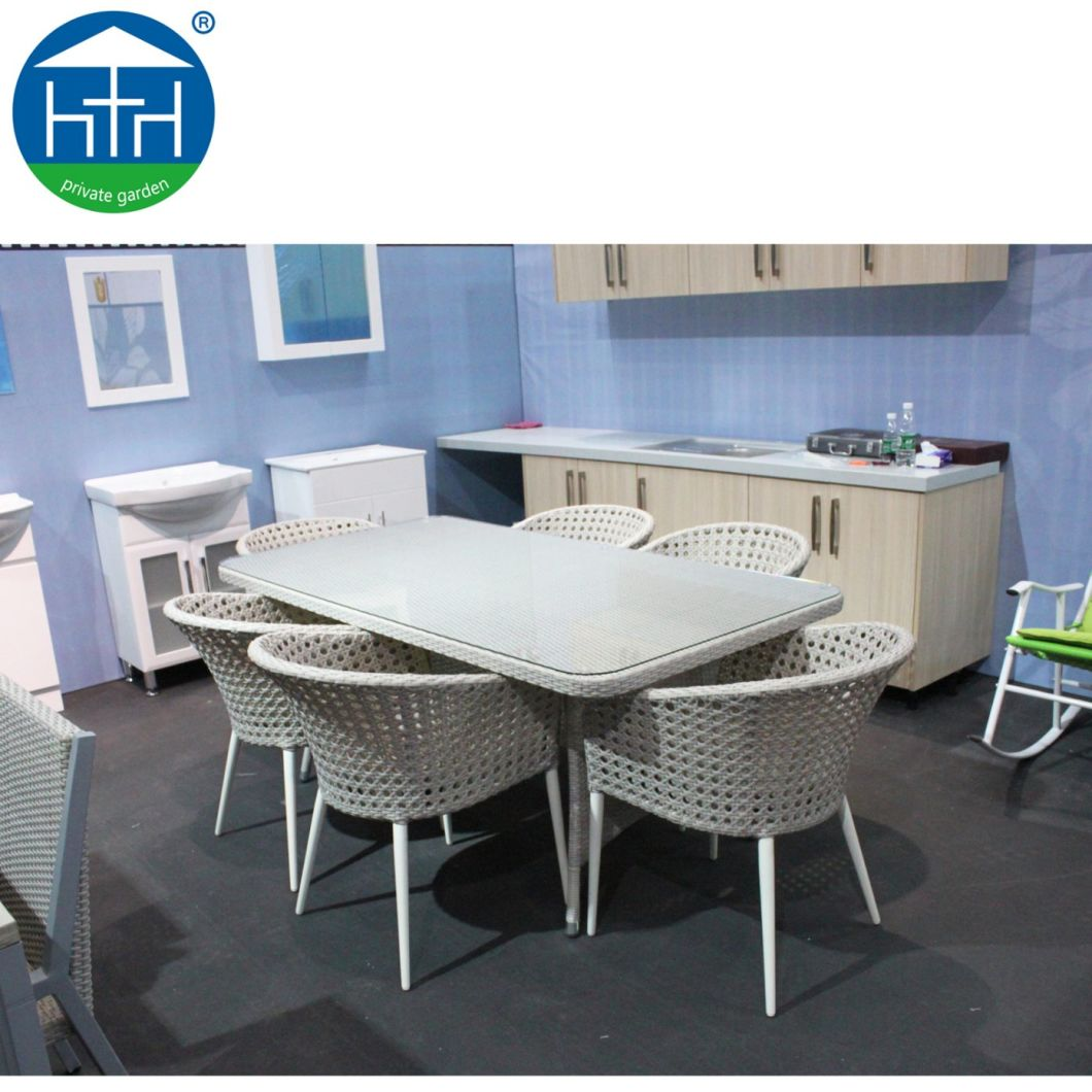 Rattan Modern Space-Saving Cube Dining Set for Garden, Patio and Outdoor