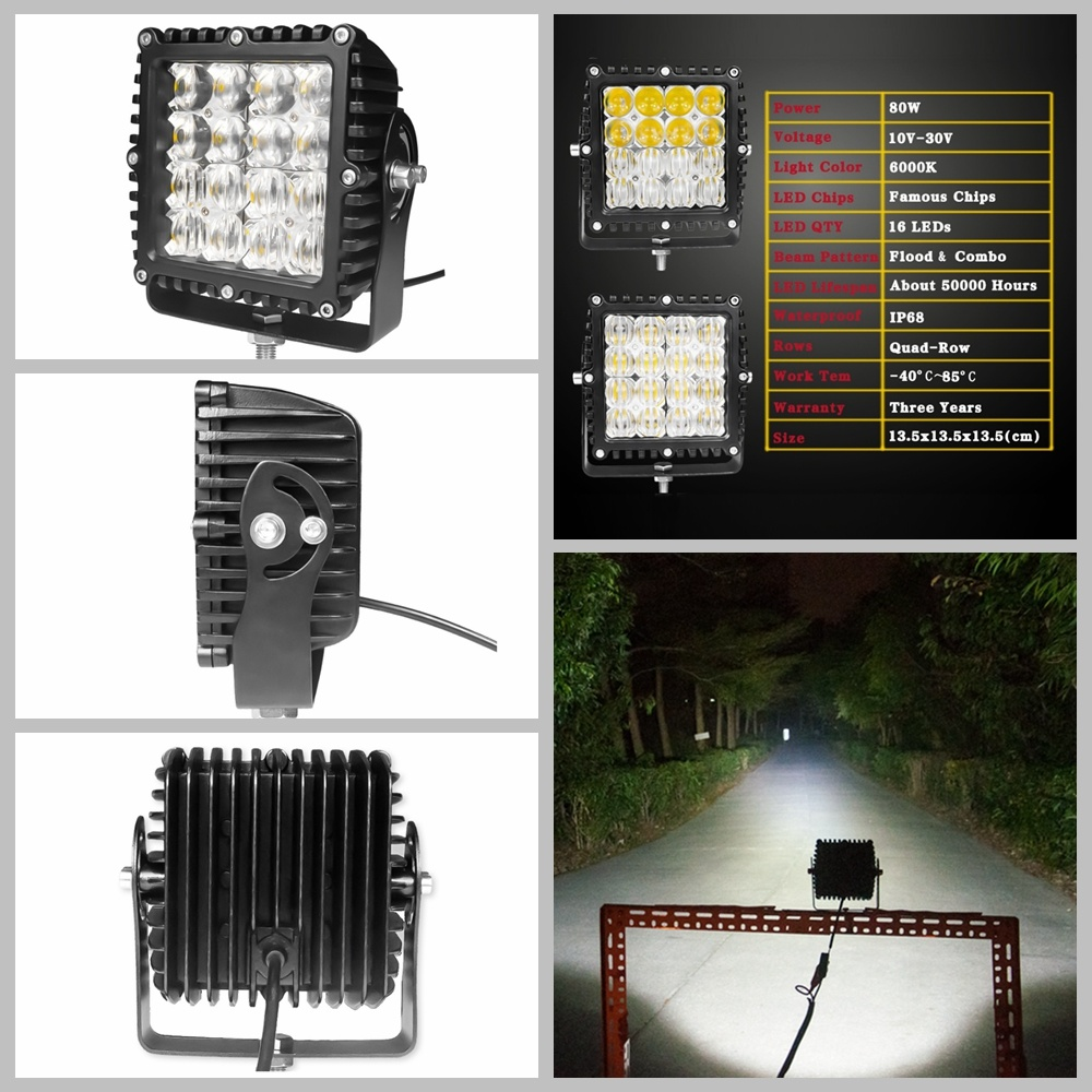 New 5 Inches High Power Combo Beam CREE LED Work Light for Offroad Jeep Truck