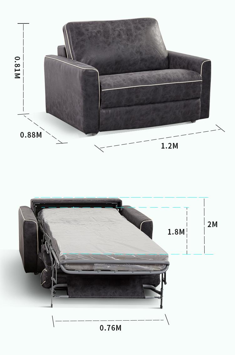 Multifunctional Foldable Single Sofa Bed