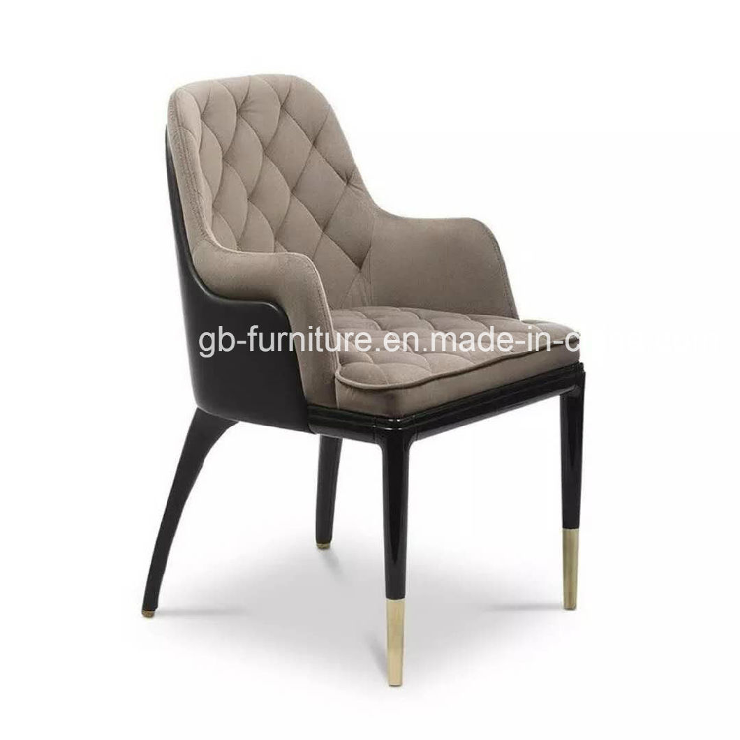 2018 New Wood Hotel Restaurant Chair in Top Quality Fabric
