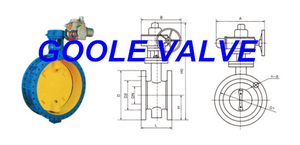 Electric Soft Seal Flanged Butterfly Valve (GAD941X)