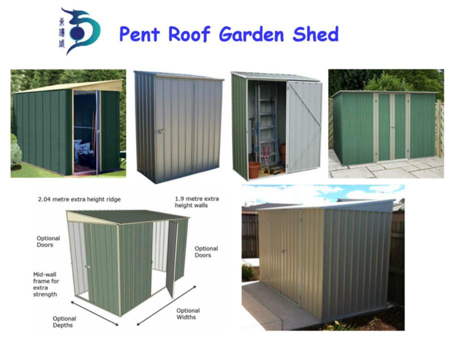 Easily Assembled Waterproof me<em></em>tal Garden Shed (RDS2618-G2)