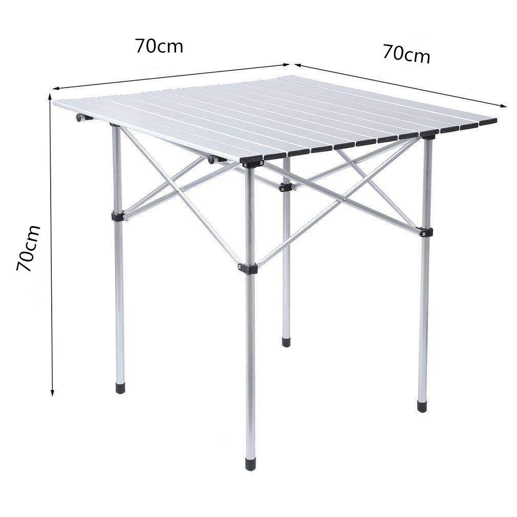- China 70cm Roll Up Portable Folding Camping Square Aluminium