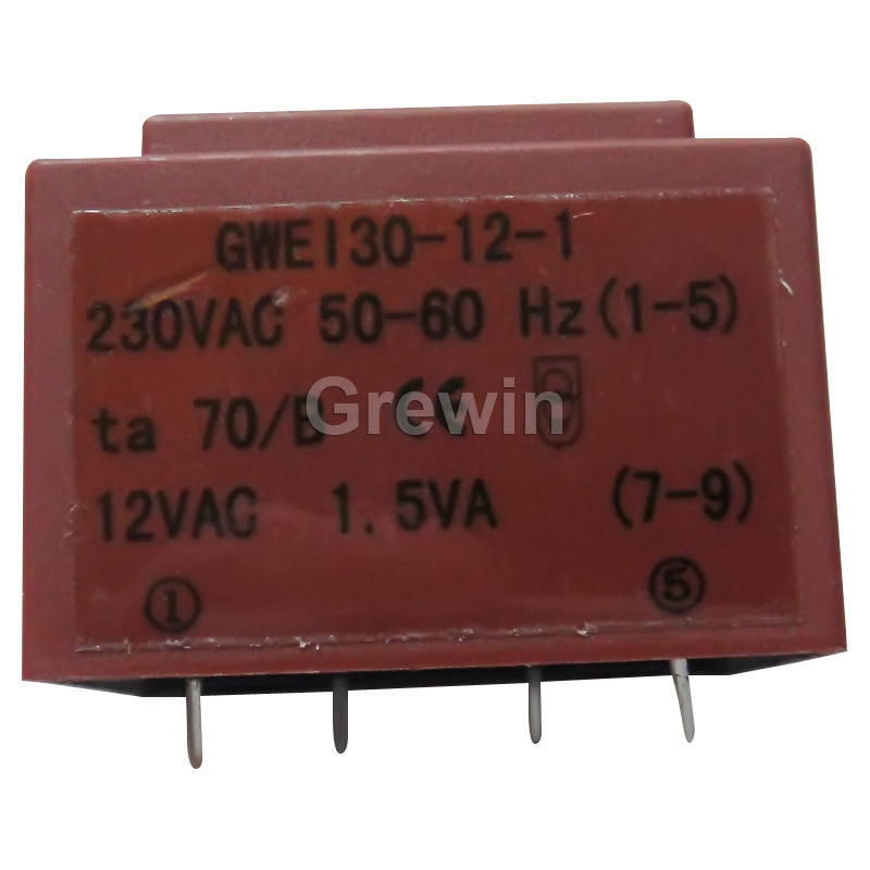 Ei30 0.5va to 2.8va Short-Circuit-Proof Transformer with CE and RoHS