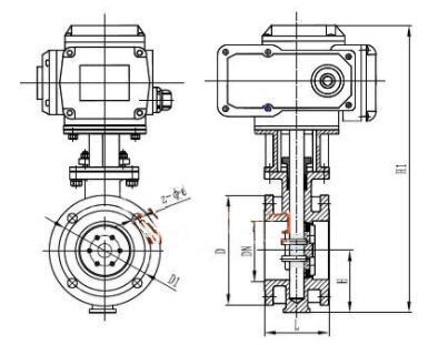 Electric/Motorized Soft Seal Flanged Butterfly Valve (GAD941X)
