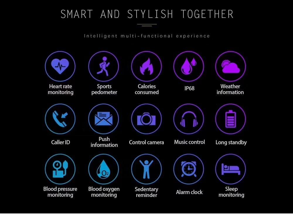 Fitness Tracker Women Smart Watch Men Q8 PRO Smartwatch Waterproof Bracelet Heart Rate Monitor Sport Wristband for Android Ios
