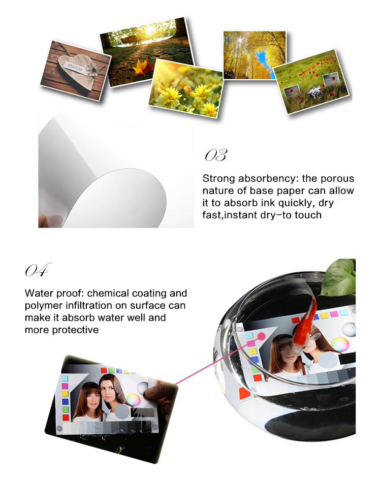 China Hot Selling Glossy Matt Satin Waterproof Inkjet Photo Paper 180-280GSM Inkjet Paper