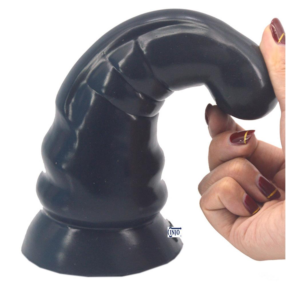 Silicone Round Head Anal Plug Simulation Penis Masturbator