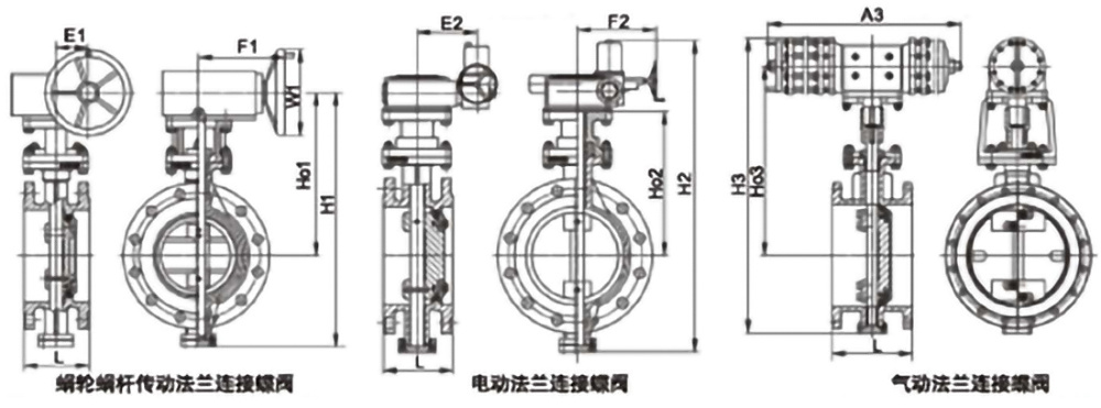 Triple Eccentric Flange Hard Seal Butterfly Valve