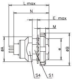 Female Multi Pins Electrical Circular Connectors