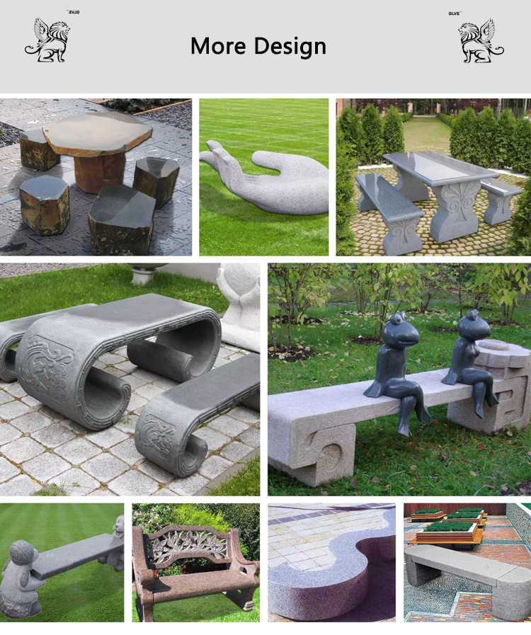 China Outdoor Stone Garden Products Furniture Marble Chair Table