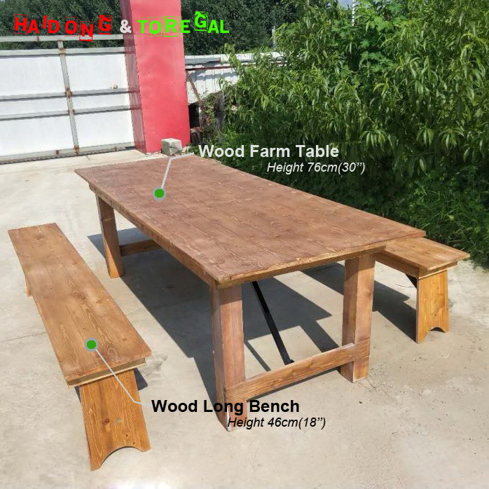 China Outdoor Dining Furniture Rustic
