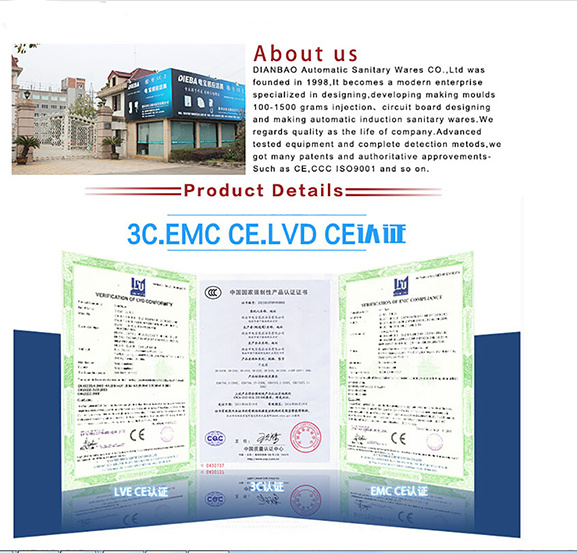 Ce Certificate Wall Mounted Hair Dryer for Restaurant Bathroom