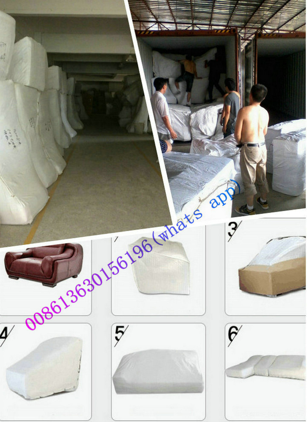 China Home Furniture Sectional Fabric Sofa Factory (A006)