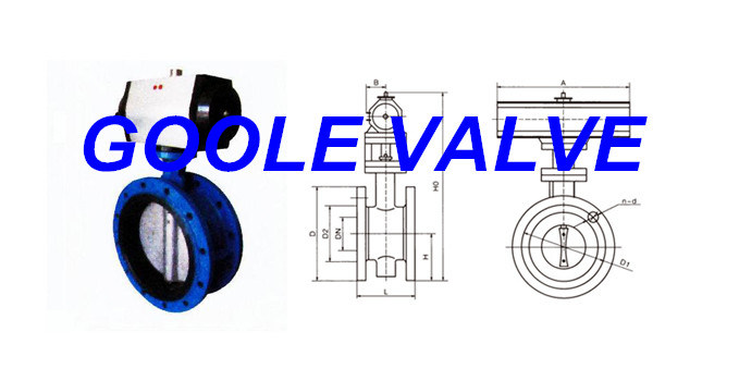 Pneumatic Soft Seal Flanged Butterfly Valve (GAD641X)