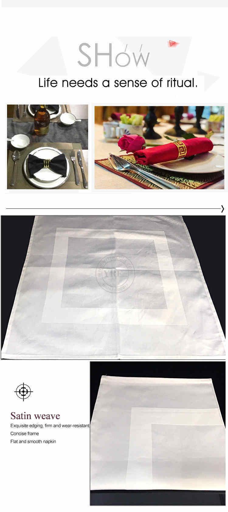 Guangzhou Foshan China Supplier 45cm Cotton White Napkin