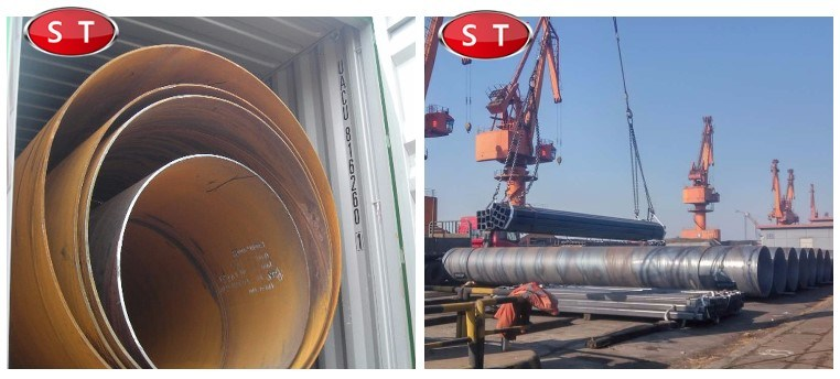 SSAW Carbon Steel Spiral Welded Pipe Gas and Oil Pipe