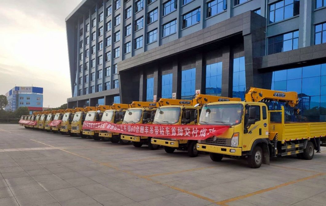 China Sinotruk HOWO 5 Ton HOWO Truck Mounted Crane