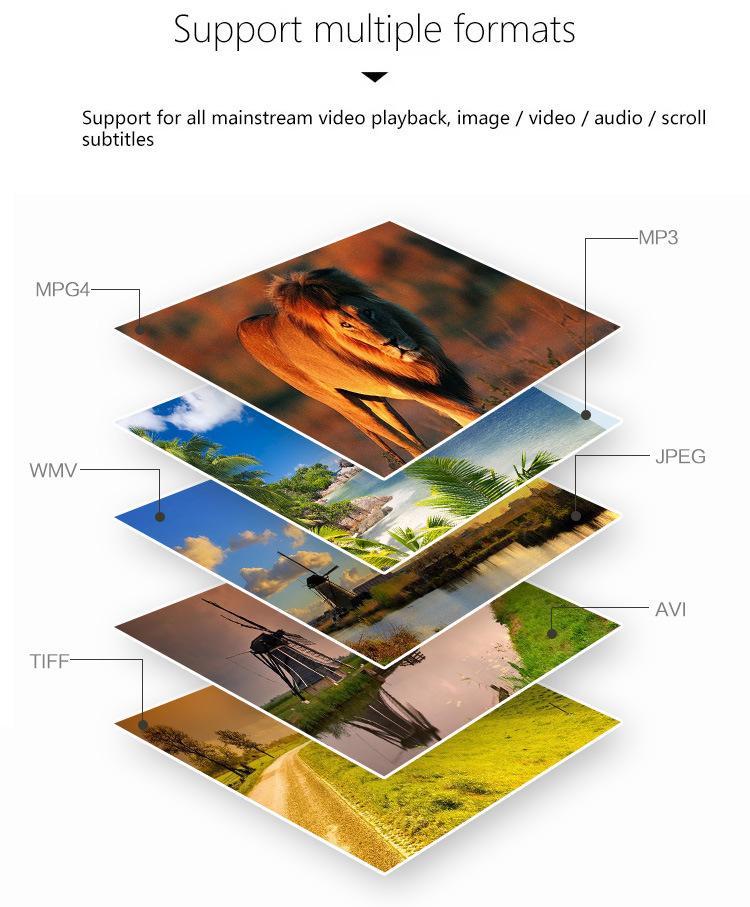 Wall Mounted Digital Signage 1080P Advertising Display