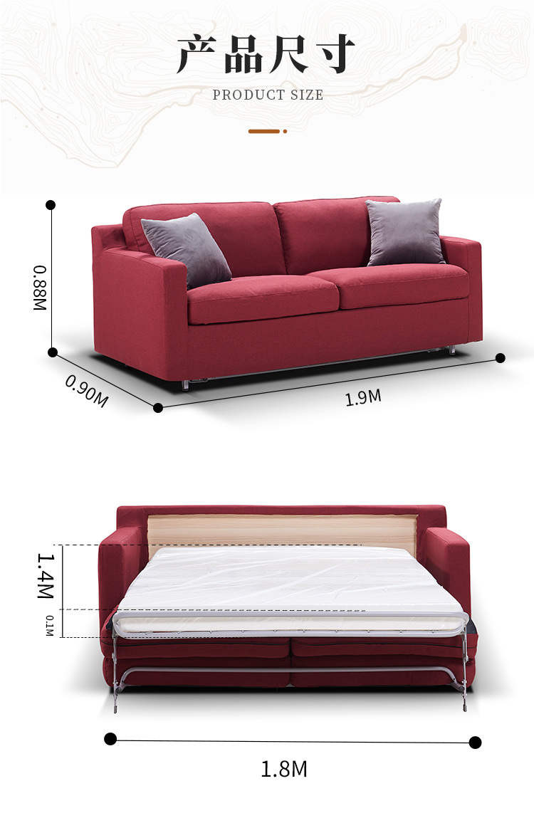 Multifunctional Living Room Double Sofa Bed