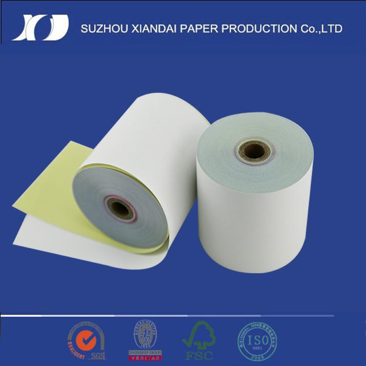 2ply White/Pink Carbo<em></em>nless Paper Rolls