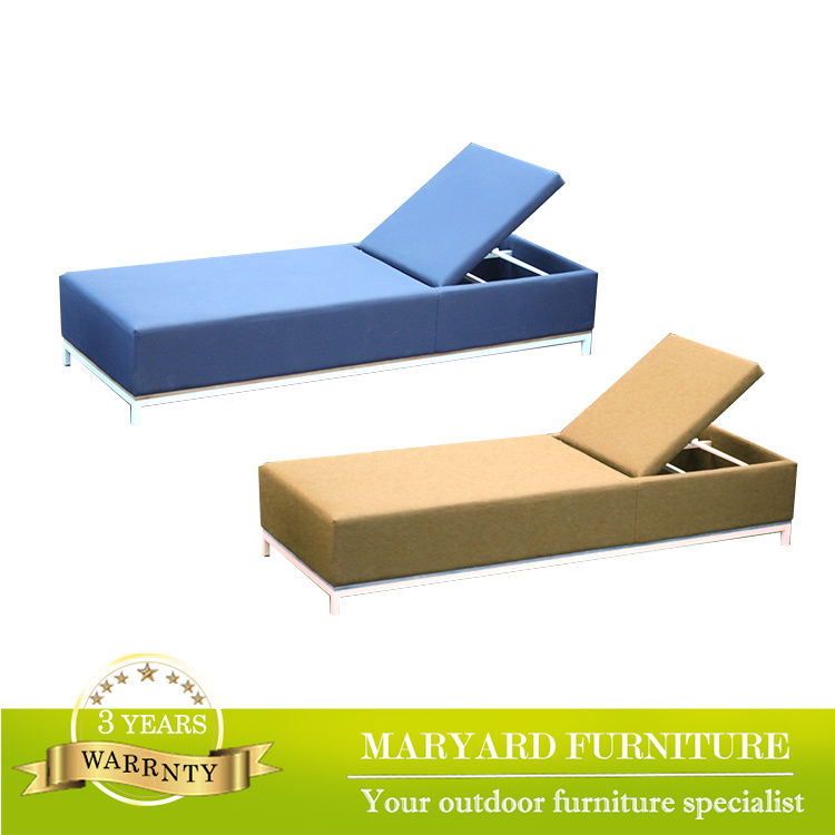 High Quality Fabric Beach Lounger Chair French Chaise Lounge Suitable for Swimming Pool Furniture