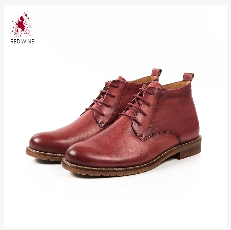 03e488d13bc7 Quality Wholesale Mens Cow Skin Ankle Length Lace up Leather Boots