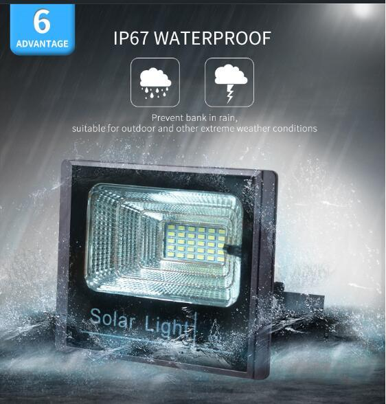 New 10W 25W 40W 60W 100W LED Solar Flood Light Solar Home Garden Light with Rechargeable Lamp