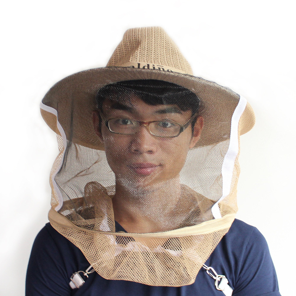Beekeeping Beekeeper Cowboy Hat Protective Net Veil Face Head Protector